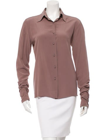 Fendi Ruched Button-Up Top None