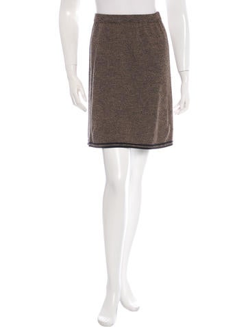 Fendi Wool Rib Knit Skirt None