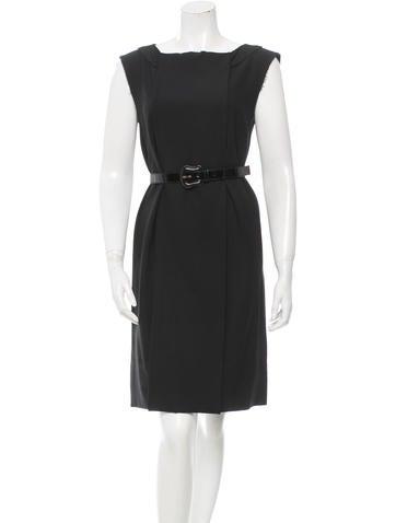 Fendi Silk-Trimmed Wool Dress None