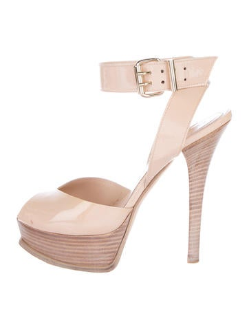 Fendi Patent Leather Platform Sandals None