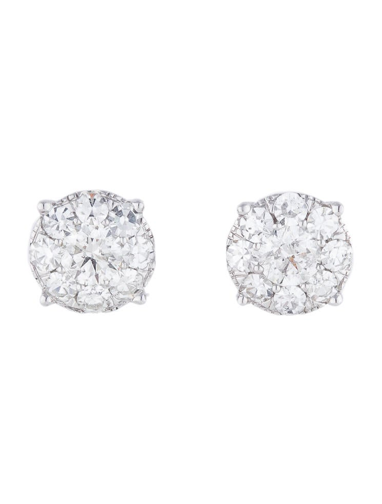 Diamond Cluster Earrings 2.00ctw