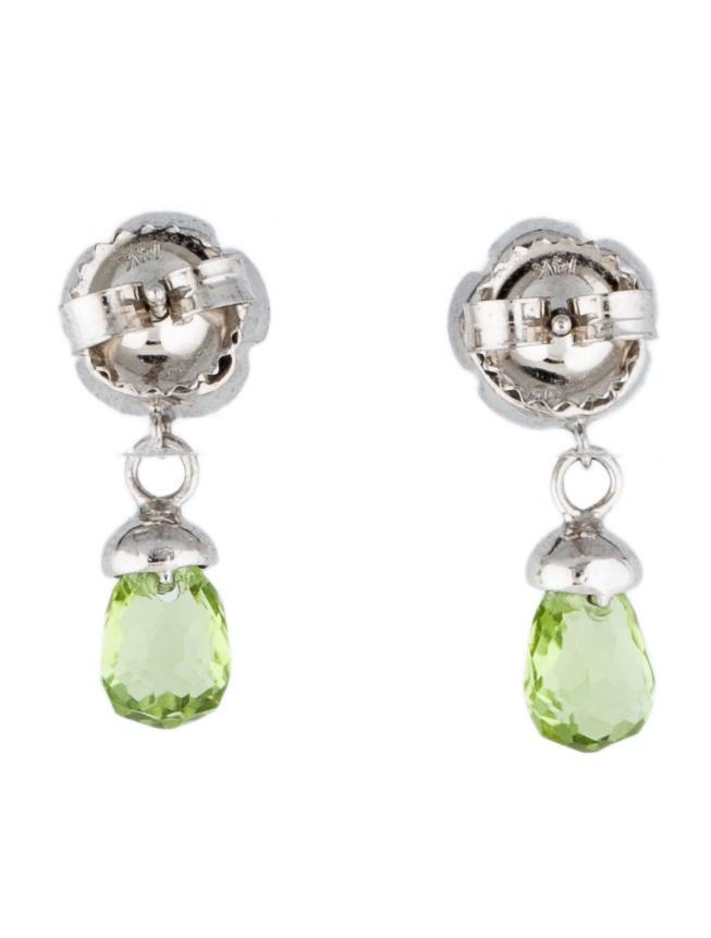 Peridot and Diamond Drop Earrings - 28.1KB