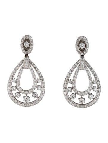 18K Diamond Teardrop Earrings
