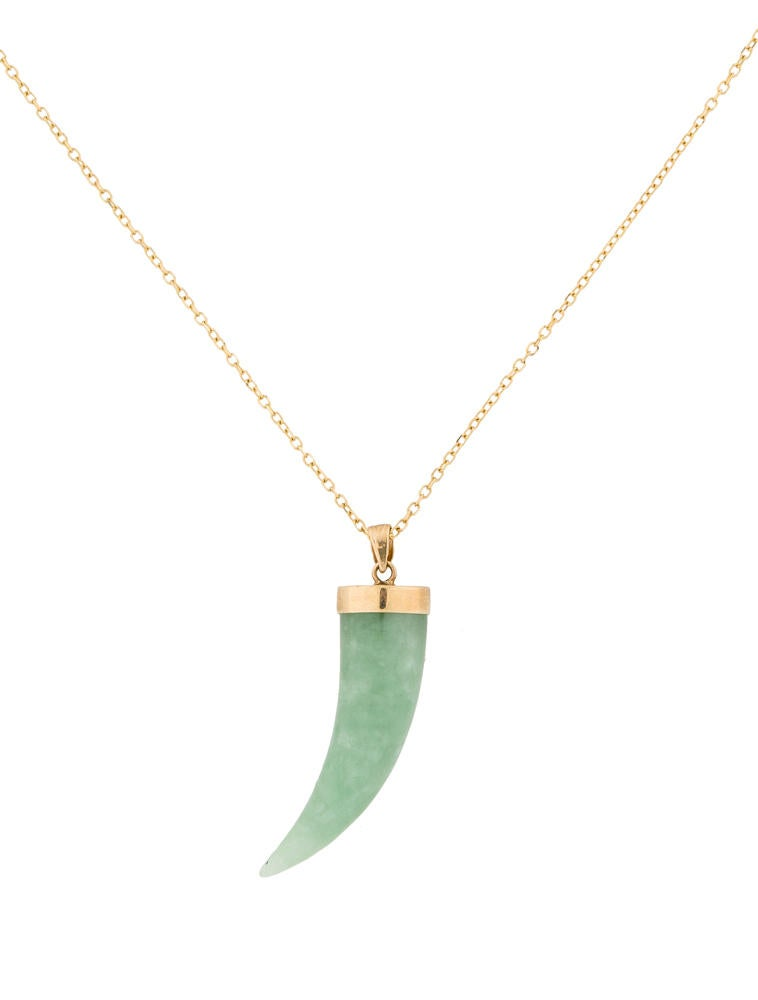 italian jade horn pendant necklace necklaces fjn20680