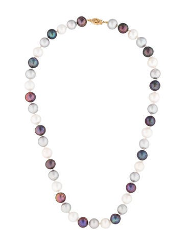 Product Name Tri Color Freshwater Pearl Strand Necklace