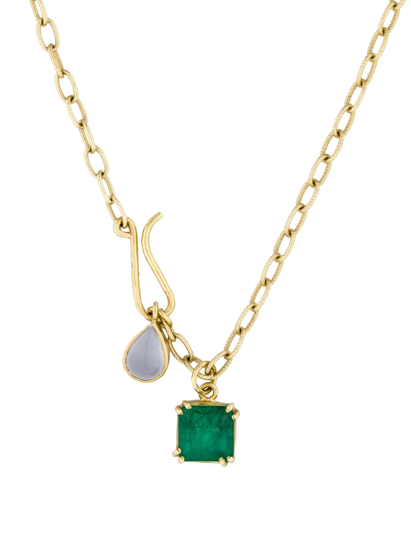 emerald moonstone pendant necklace necklaces