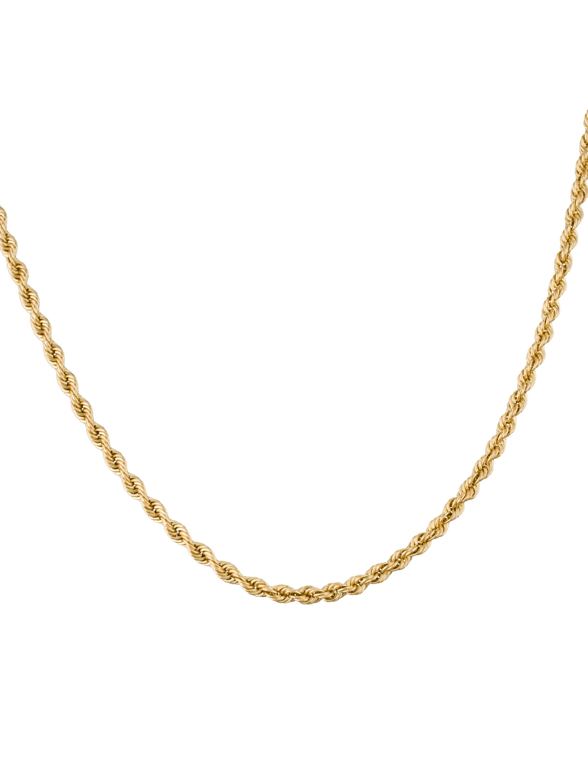 14k gold twist rope chain necklace necklaces fjn24390