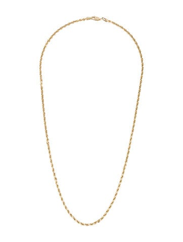 14K Gold Twist Rope Chain Necklace