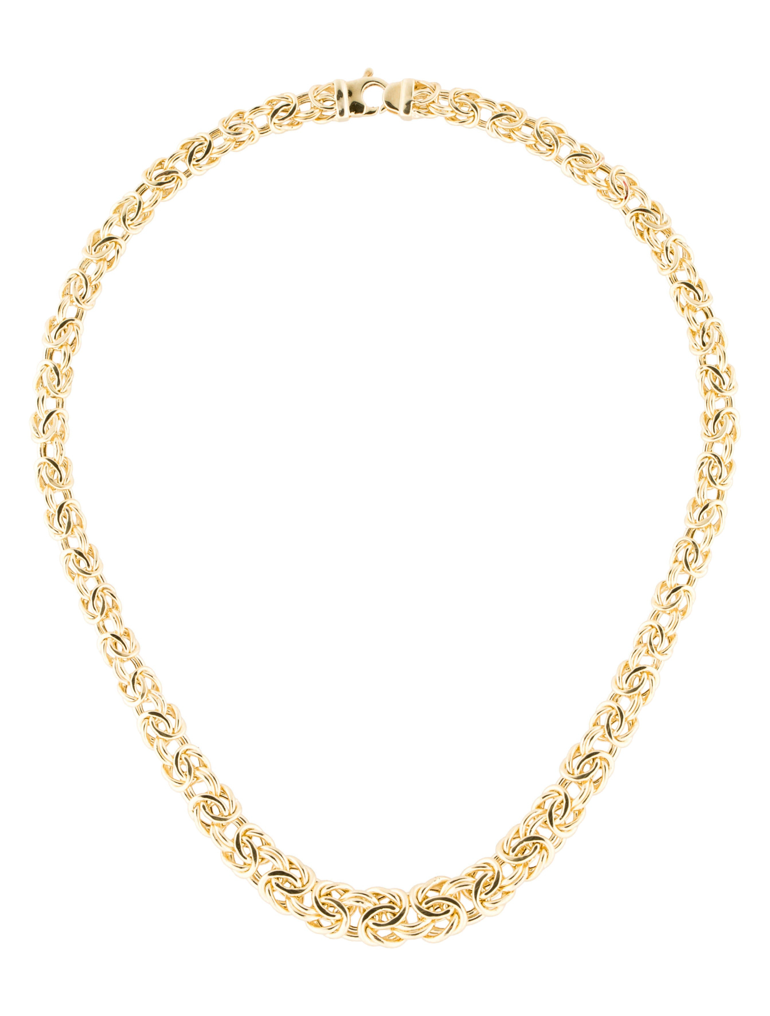 14k byzantine graduated necklace necklaces fjn24788