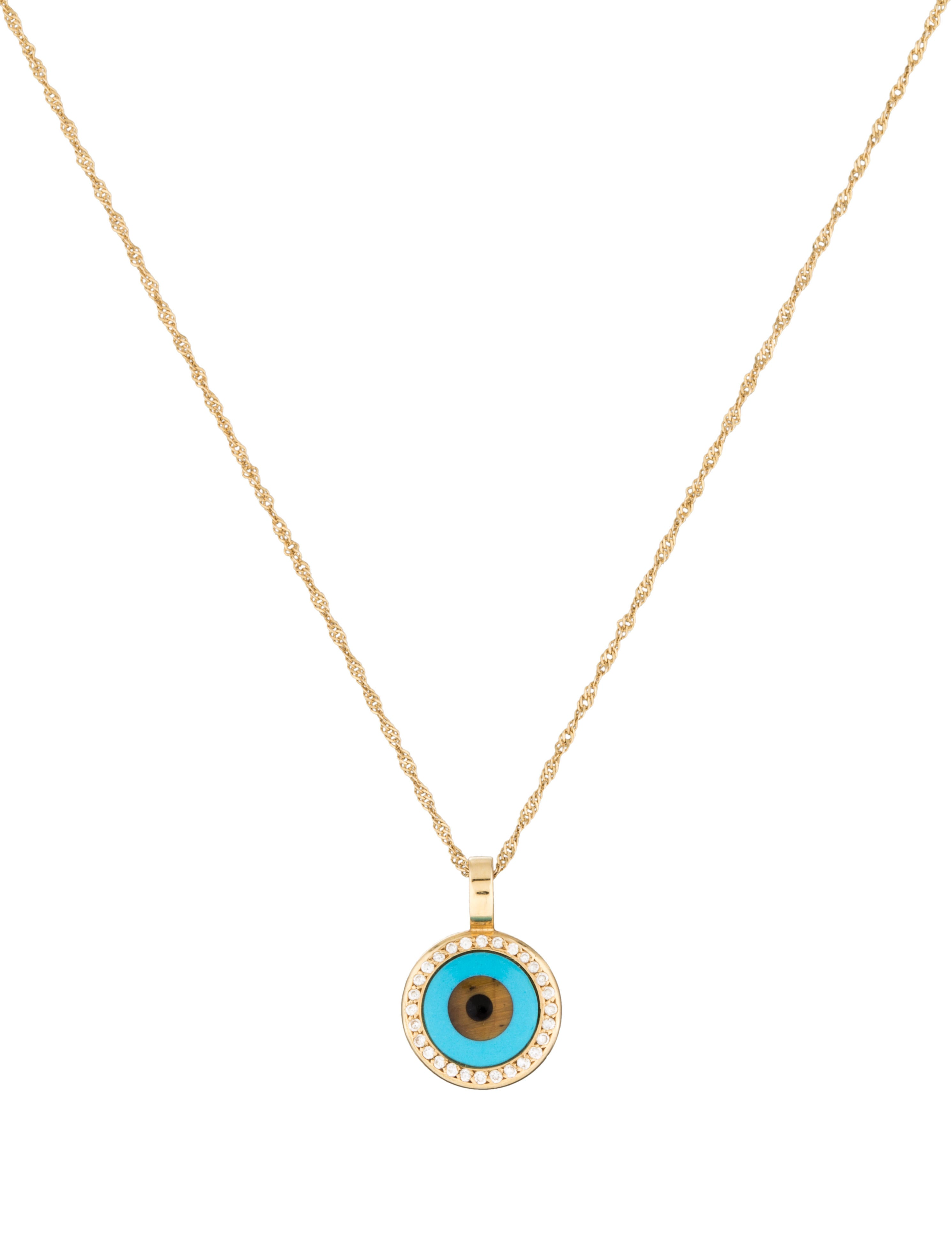 evil eye pendant necklace necklaces fjn24995 the