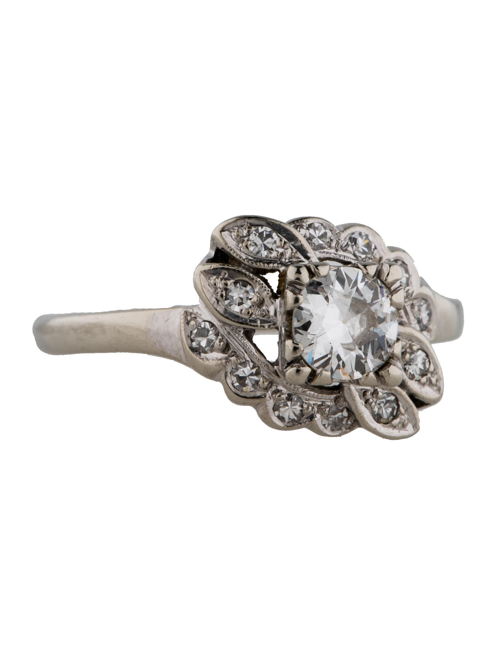 floral engagement ring rings fjr25501 the