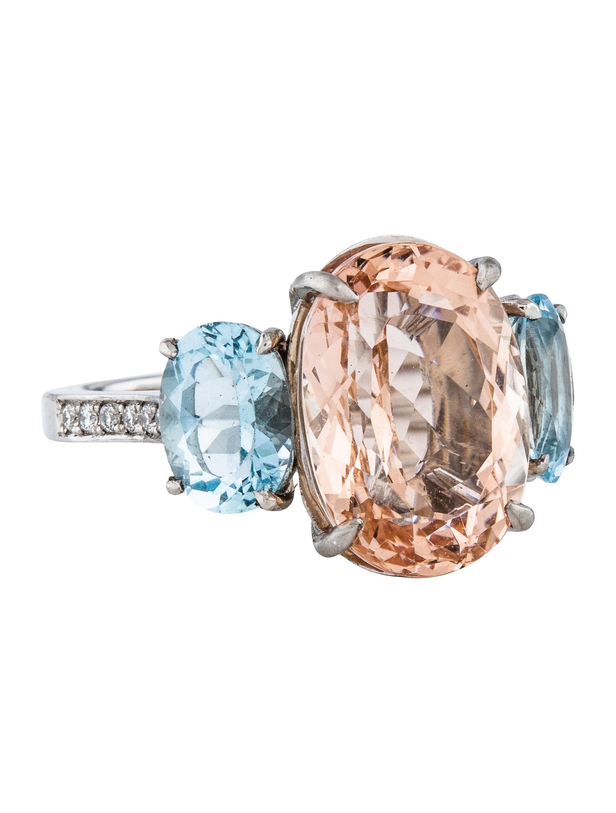 Morganite and Aquamarine Ring Rings FJR