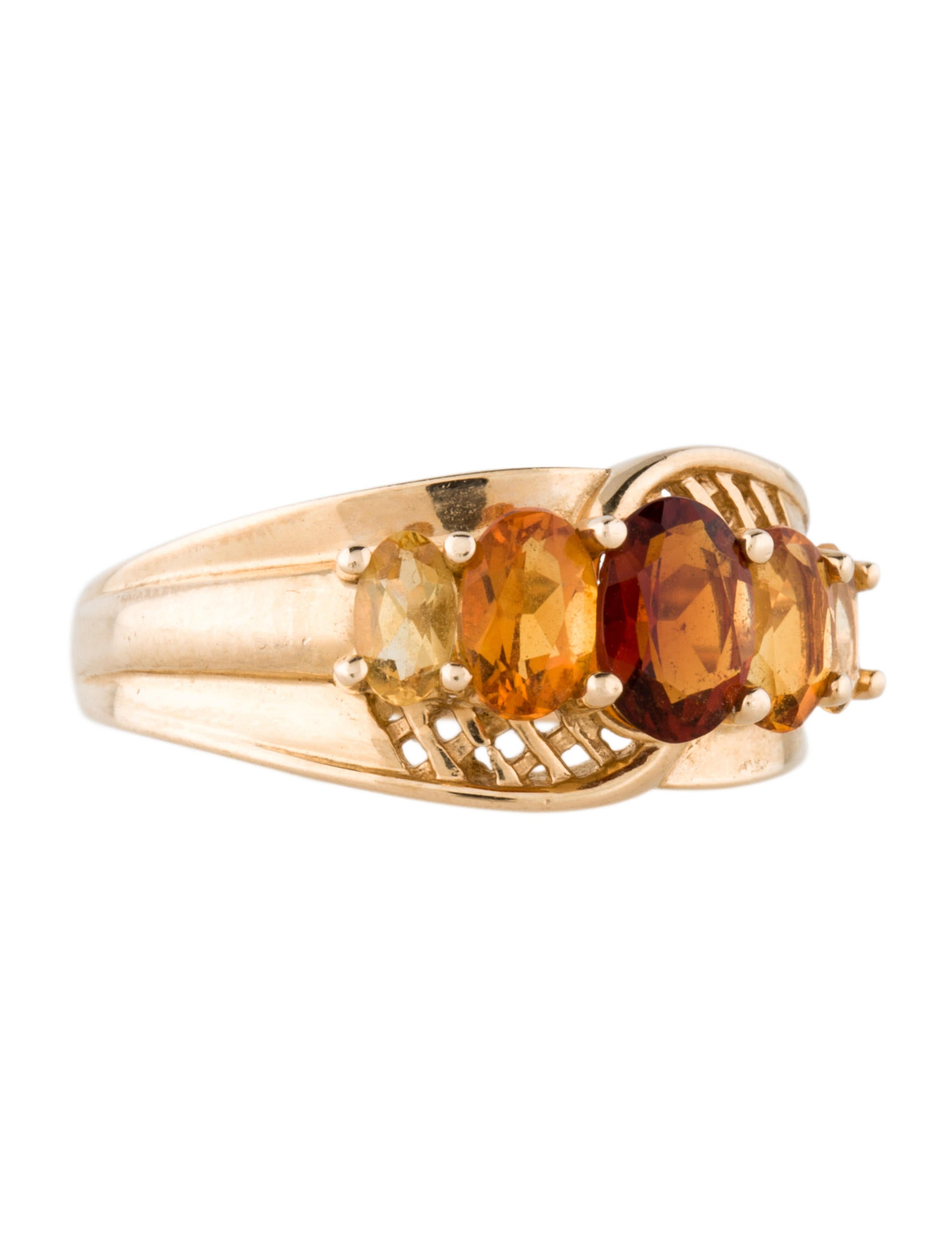 5stone citrine cocktail ring rings fjr27017 the