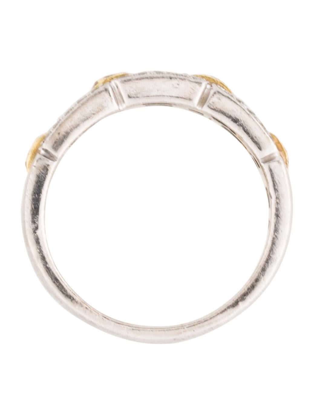 18k and platinum band rings fjr27057 the