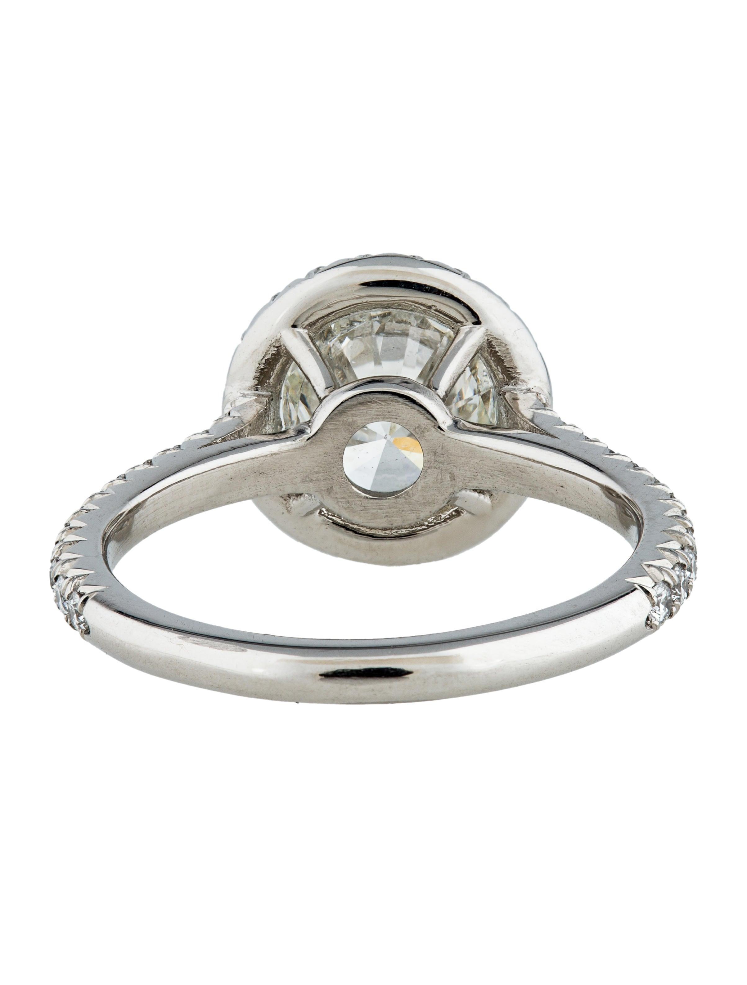 Platinum Diamond Halo Engagement Ring Rings FJR