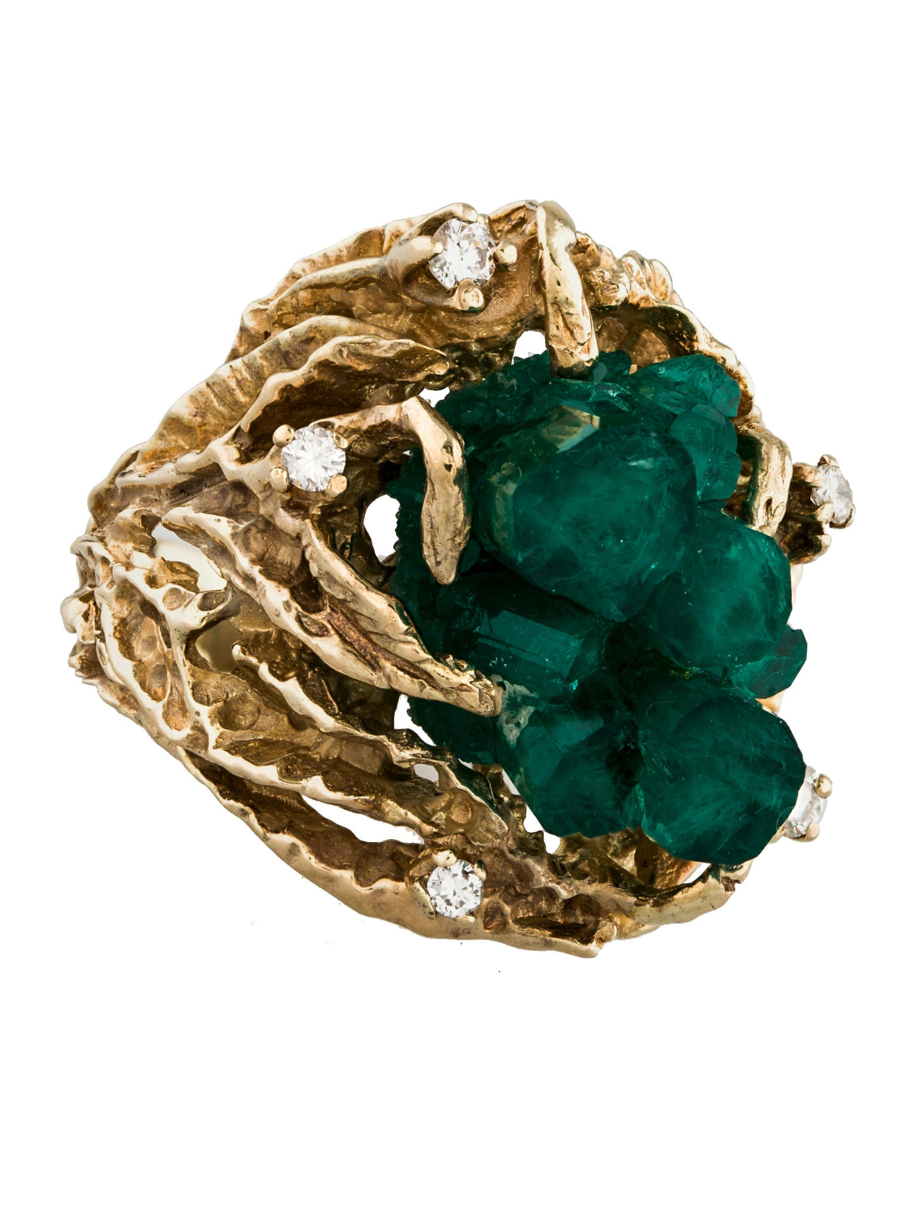 Raw Emerald Ring For Sale
