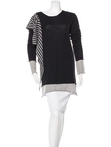Gareth Pugh Striped Wool Sweater None