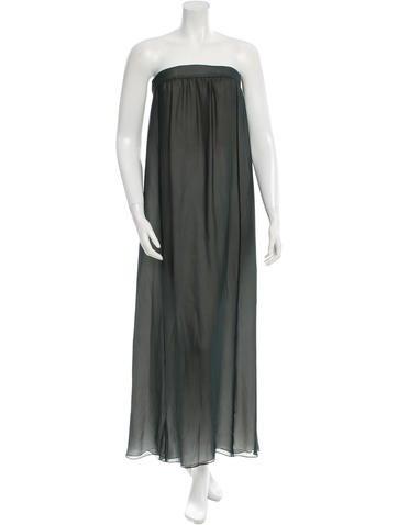 Giorgio Armani Strapless Maxi Dress