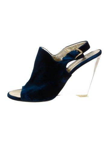 giuseppe zanotti velvet lucite wedges shoes giu28599