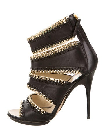 Giuseppe Zanotti Chain-Link Caged Sandals