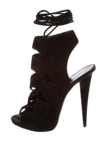 Giuseppe Zanotti Suede Lace-Up Sandals