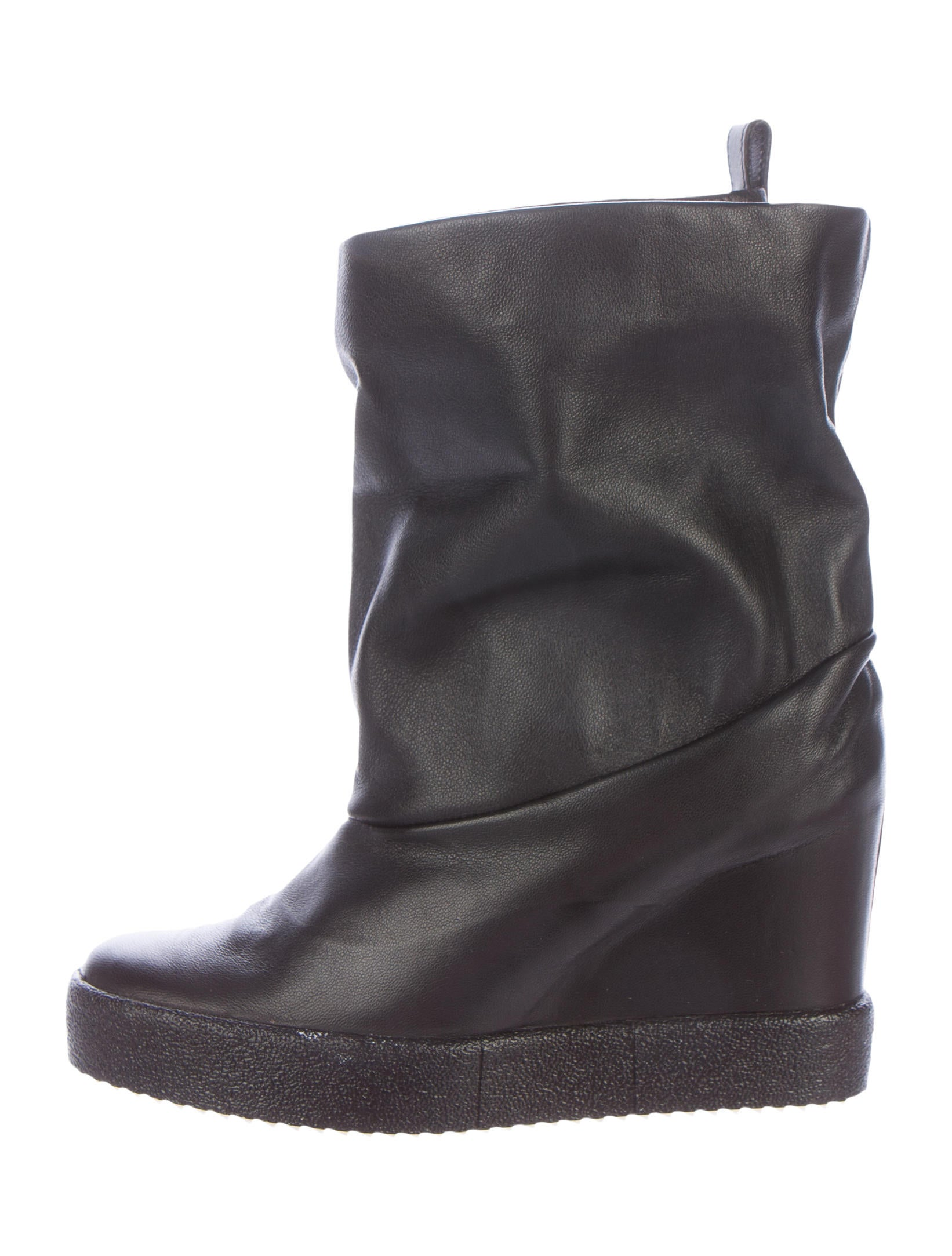 giuseppe zanotti leather wedge ankle boots shoes