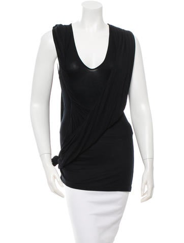 Givenchy Sleeveless Ruched Top None