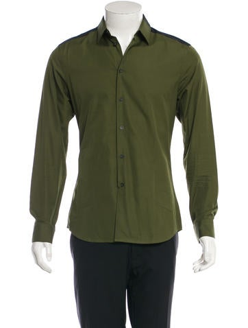 Givenchy Colorblock Poplin Button-Up Shirt