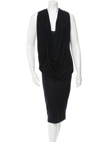 Givenchy Sleeveless Midi Dress None