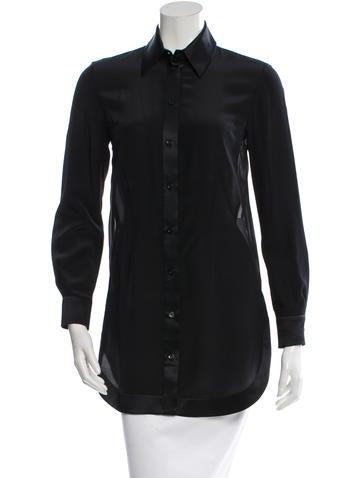 Givenchy Silk Button-Up Top None
