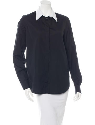 Givenchy Collared Button-Up Top None