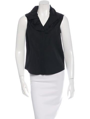 Givenchy Sleeveless Button-Up Top None
