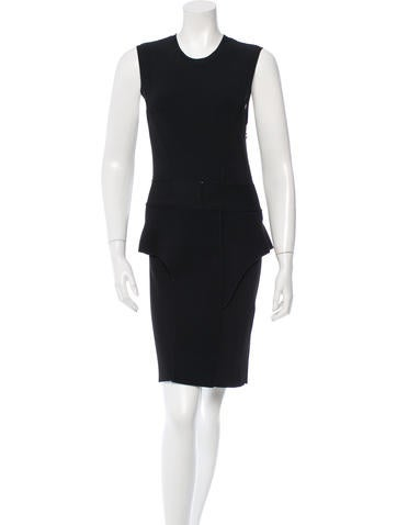 Givenchy Knit Peplum Dress None