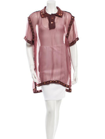 Givenchy Sheer Embellished Tunic None