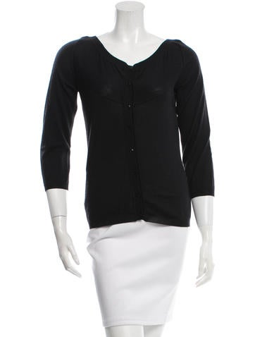 Givenchy Cashmere Silk-Blend Cardigan None