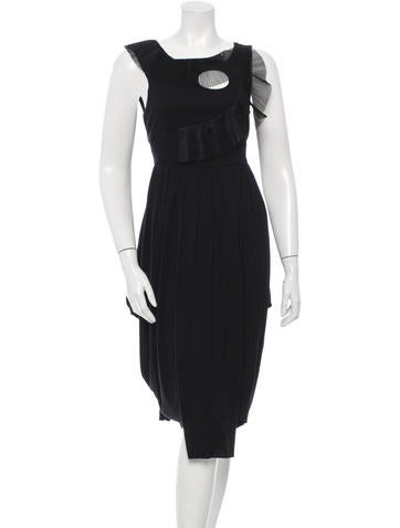 Givenchy Pleated Midi Dress w/ Tags None
