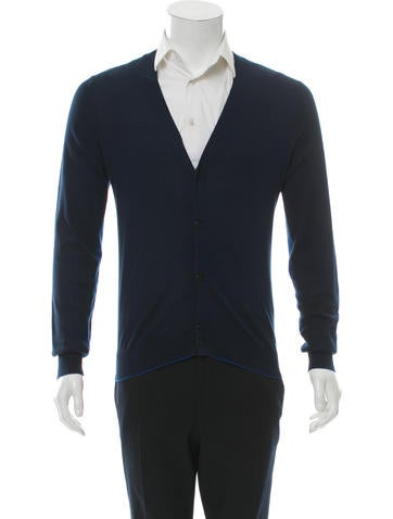 Givenchy Long Sleeve Two-Tone Cardigan None