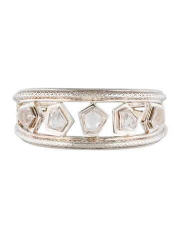 Andy Götz Silver Quartz Cuff Bracelet