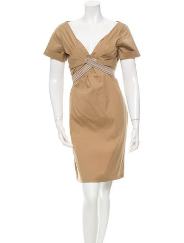 Gucci Pleated Knee-Length Dress None