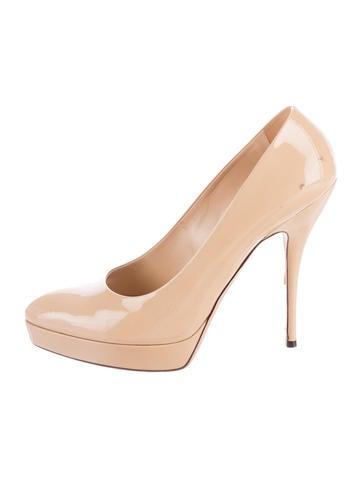 Gucci Patent Leather Almond Toe Pumps None