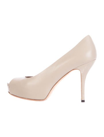 Gucci Platform Peep-Toe Pumps None