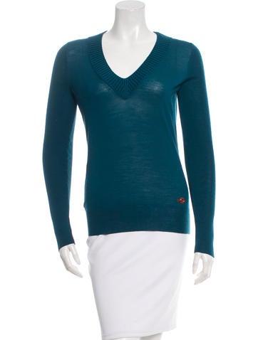 Gucci Wool V-Neck Sweater None