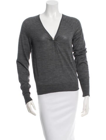Gucci V-Neck Wool Top None
