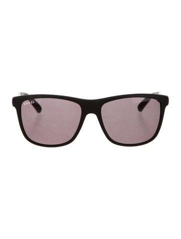 Gucci Tinted Web Sunglasses None