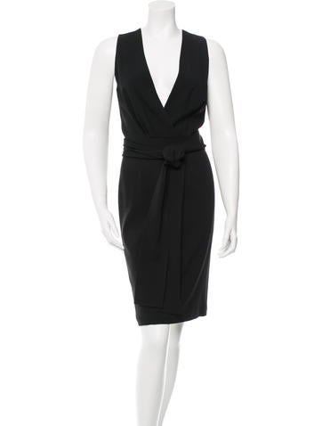 Gucci Belted Knee-Length Dress None