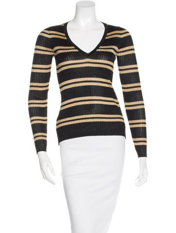 Gucci Rib Knit Striped Top None