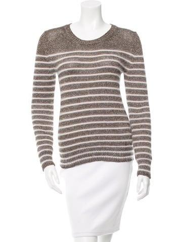 Gucci Angora-Blend Striped Sweater None