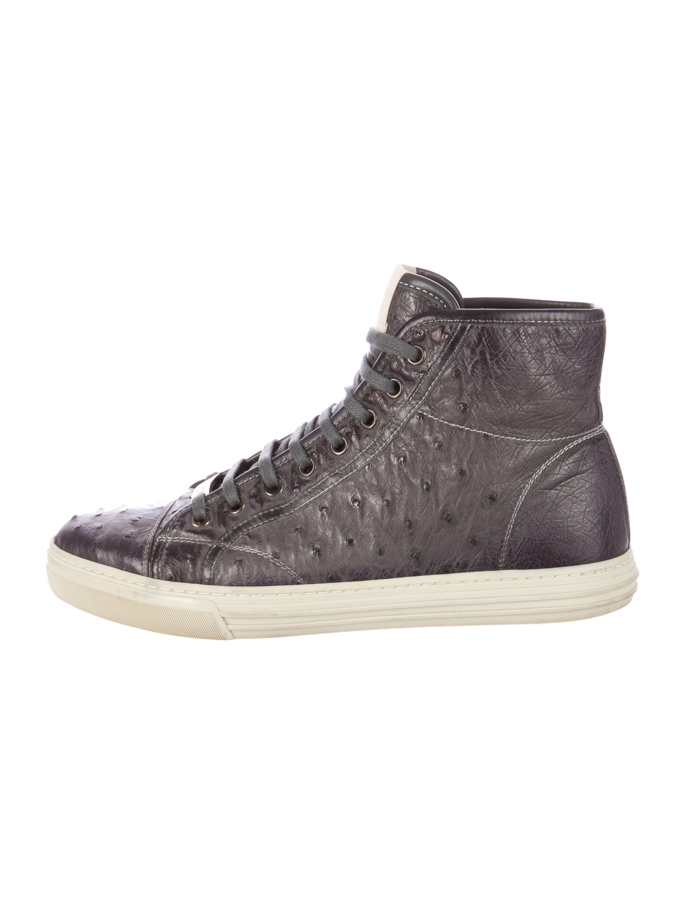 Mens Gucci Ostrich Shoes