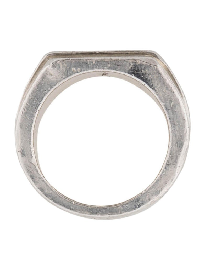 gucci square ring rings guc59803 the realreal