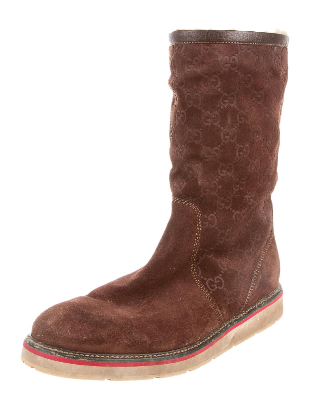 gucci suede guccisima boots mens shoes guc67975 the